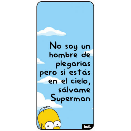 Los Simpson Frases Superman Cielo
